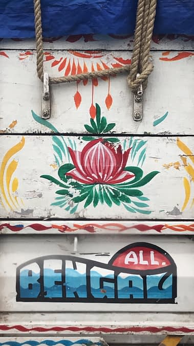 decoration on a commercial truck