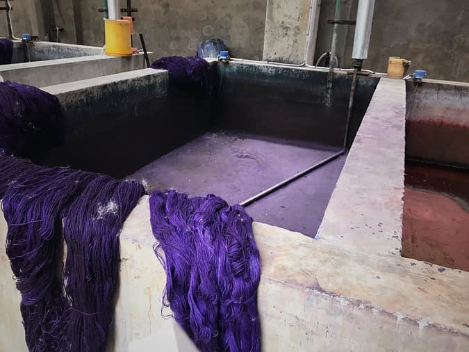 Industrial dye baths